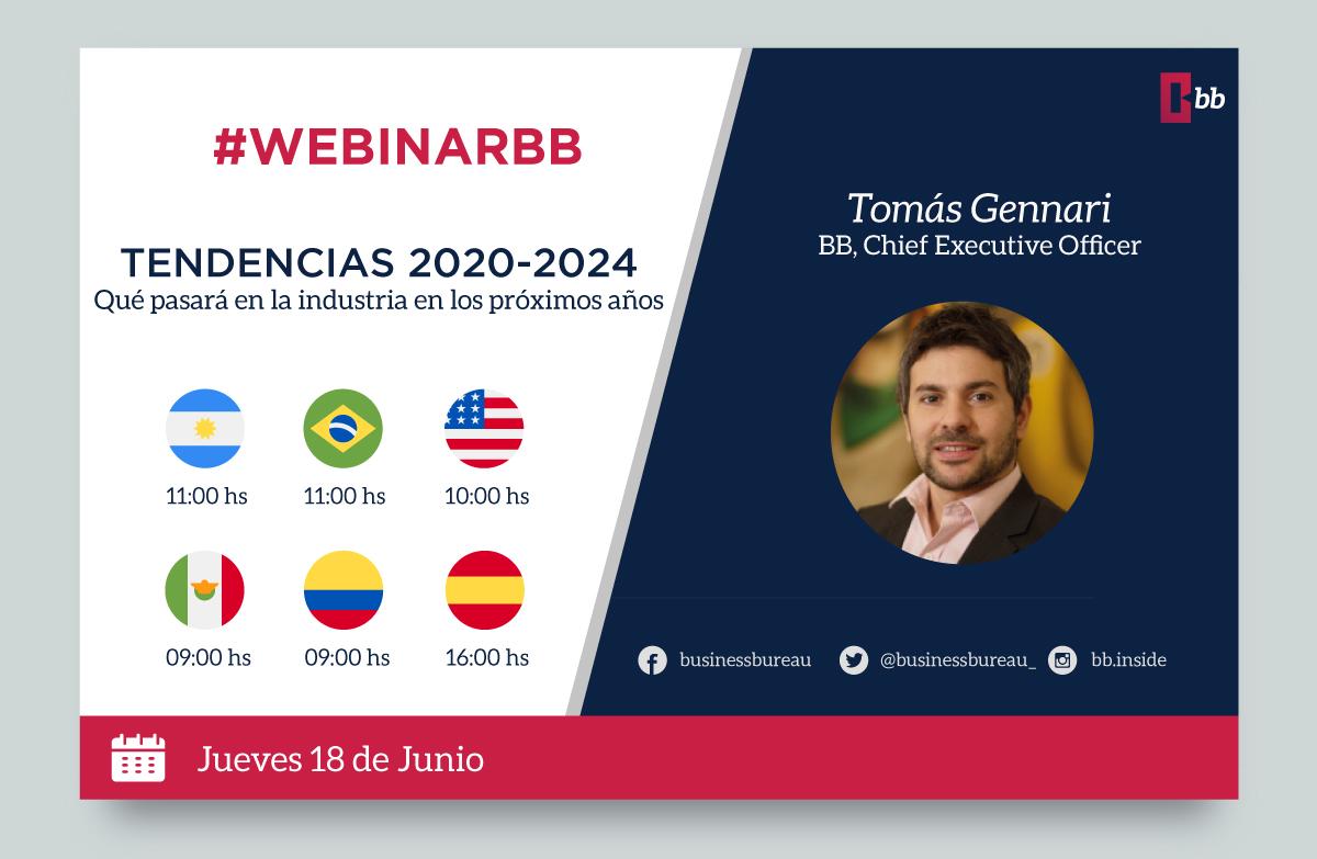 """BB brindará un ciclo de 3 conferencias virtuales en el mes de junio  18 de Junio: BB-WEBINAR """"El futuro ya empezó"""""""